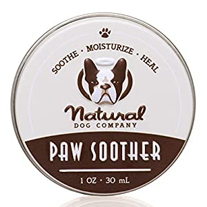 Natural Dog Company Paw Soother, Heals Dry, Cracked, Irritated Dog Paw Pads, Organic, All Natural Ingredients