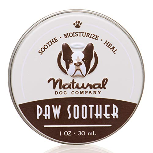 Natural Dog Company Paw Soother, Heals Dry, Cracked, Irritated Dog Paw Pads, Organic, All Natural Ingredients, 1oz Tin, 1 Count