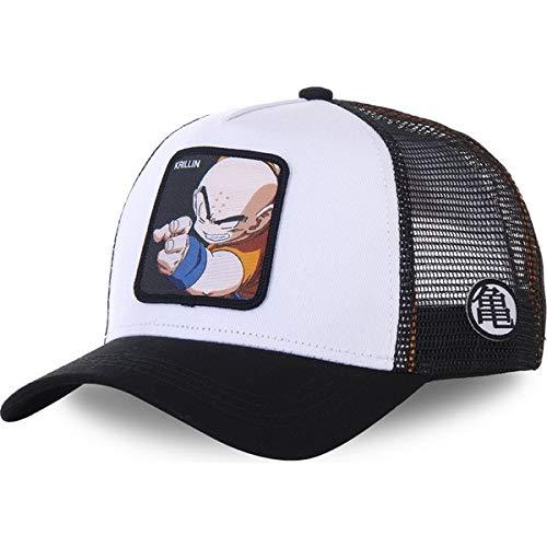 Sombrero de Malla Gorra de bisbol Sombrero de Camionero de ala Gorras Casquette-White KRILLIN-54cm-62cm