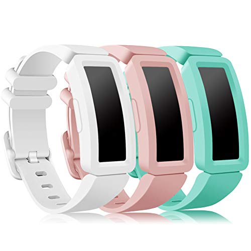 Onedream Compatible con Fitbit Ace 2 Correa Niños, Suave Silicona de Ajustable Deportiva Pulsera de Reemplazo Compatible para Fitbit Inspire HR