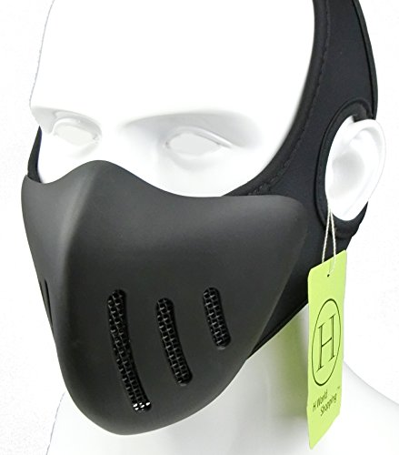 H World Shopping Airsoft Tactical Metal Mesh Breathable Protection Half Face Mask Black