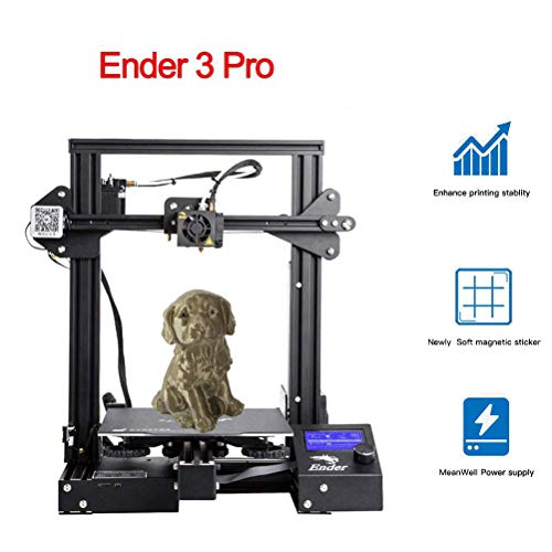Creality Ender 3 Pro 3D Printer with Removable Cmagnet Build Surface Plate and Meanwell Power Supply 8.6' x 8.6' x 9.8' for School and Home Use