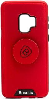 بيسوس غطاء حماية لجهاز سامسونج جالاكسي اس 9 ، احمر