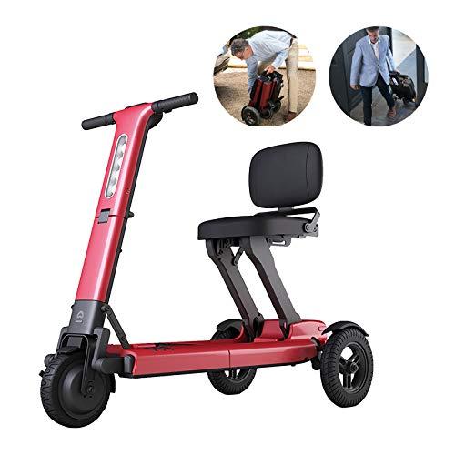 Patinete de movilidad portátil de 3 ruedas plegable automático con iluminación LED...