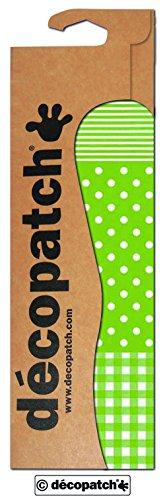 Decopatch Papier No. 548 (grün Punktkaro weiß, 395 x 298 mm) 3er Pack