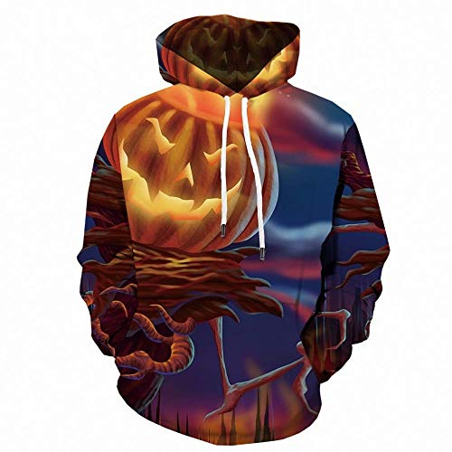 Fire-Breathing Pumpkin Hooded Sweater 3D Sweater Digital Printing Casual Sports Jacket-Color_2XL