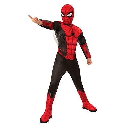 LGYCB Disfraz de Spiderman Venom Cosplay para nios, disfraz de anime, disfraz de cosplay, disfraz de disfraz, disfraces, cumpleaos, mono de rol (nios M (120 ~ 130 cm), lejos de casa)