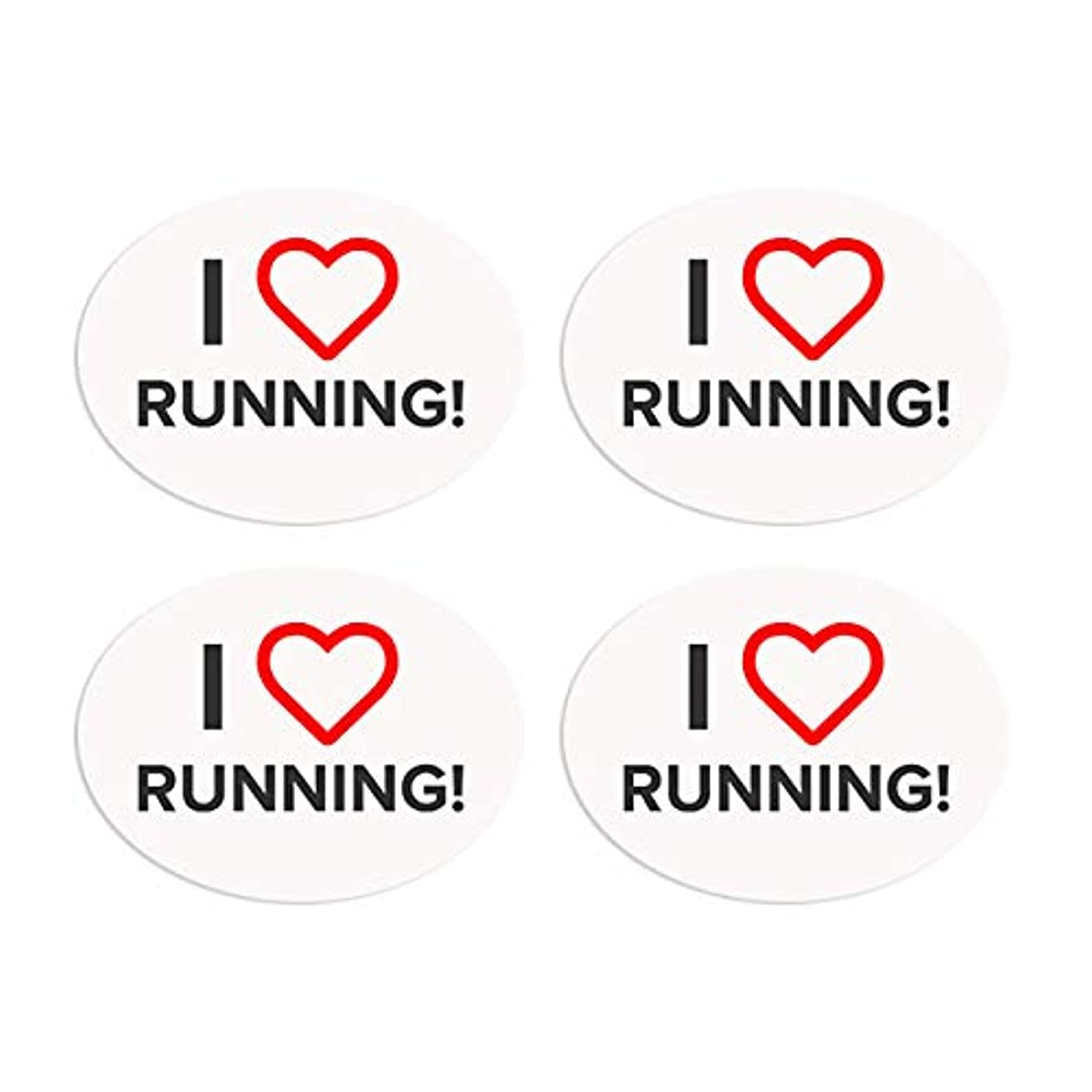BibBoards SNAP & Lock for Event/Race Bibs Pinless Race/Event Bib Number Fasteners (Safety Pin Replacement) (I Heart Running)