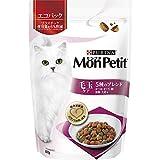 モンプチ バッグ 毛玉ケア 5種のブレンド キャットフード かつお・まぐろ・鯛・海藻・大麦味 成猫用 600g