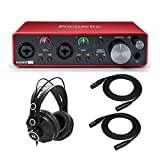 Focusrite Scarlett 2i2 3rd Gen 2x2 USB Audio Interface Bundled with Headphones and 2 XLR Cables (4...