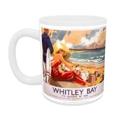 Whitley Bay - Taza de cerámica blanca (11 oz)