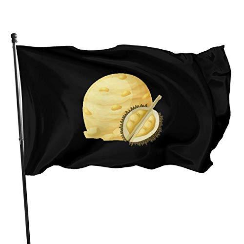 ALLdelete# Flags Flagge Gelb Durian EIS Outdoor Outdoor Einseitig Dekorative Garten Flagge Banner 3X5 Ft