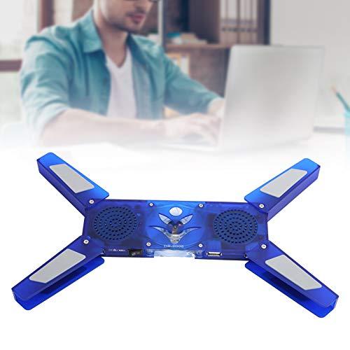 Disipador de Calor para PC, radiador Plegable fácil de Colocar Disipación de Calor eficaz Pantalla de luz LED Altavoz Ultrafino para PC/portátil para el hogar/Oficina/Escuela
