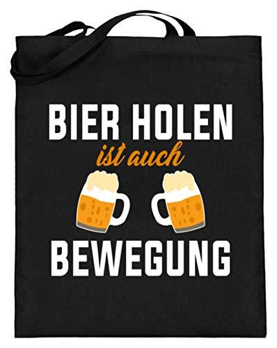 Bier Holen Ist Auch Bewegung Party Damen Herren Mmotiv - Schlichtes Und Witziges Design - Jutebeutel (mit langen Henkeln)