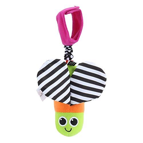 DishyKooker pasgeborenen kinderwagen windspel bij het bed hangen pluche hanger papier rammelspeelgoed met elastisch touw
