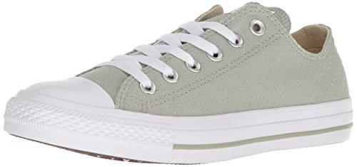 Converse Chuck Taylor All Star - Zapatillas deportivas de lona perforadas para mujer, Verde (Color salvia/blanco/blanco.), 39.5 EU