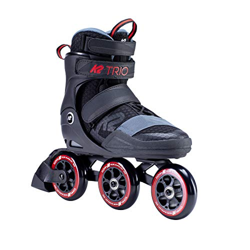 K2 Skates Herren TRIO S 100 Inline Skates, black-red, 42.5 EU (8.5 UK)