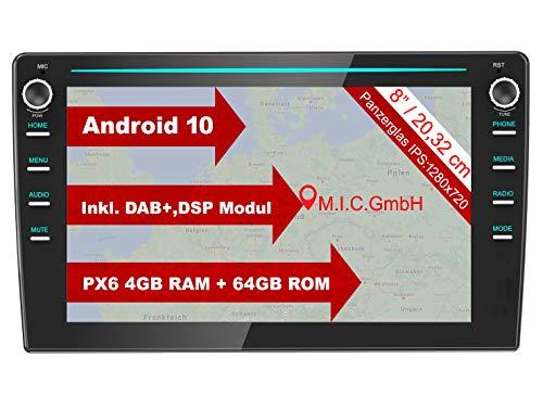 M.I.C. AVM8 Android 10 Autoradio mit navi Ersatz für VW Polo 5 6 T6 Composition Skoda Fabia 3 Seat Leon 3 Ibiza 5 Arona: DAB Plus Bluetooth 5.0 WiFi 2din 8