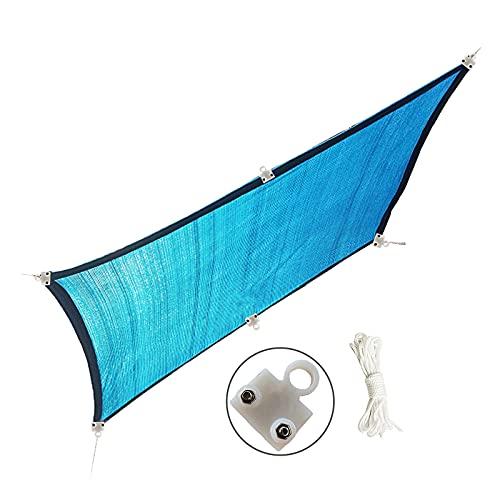 RXBFD Malla de sombreo con Ojetes Metálicos,Transpirable cifrado Grueso toldo Vela Tasa de sombreado 90%,para Exterior, Jardín, Terrazas(Personalizable)
