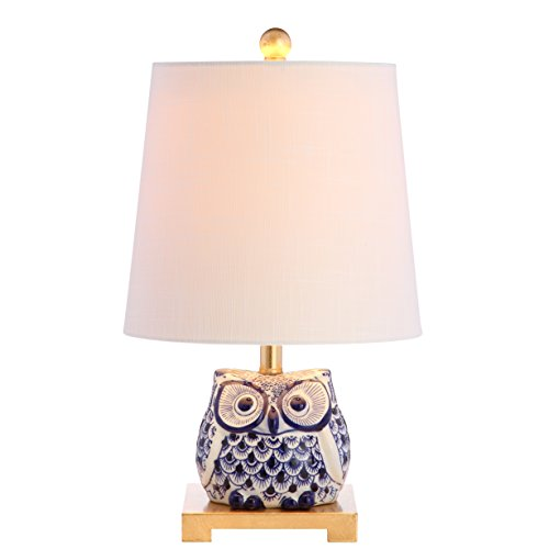 JONATHAN Y JYL3014A Justina 16' Ceramic Mini LED Lamp Cottage,Transitional for Bedroom, Living Room,...