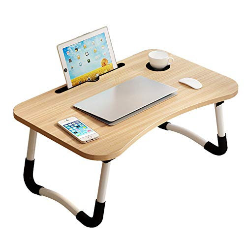 Modern Folding Small Desk for Small Space, Cheap Computer Lap Desk for Bedroom Home Student and Home Office Organization,