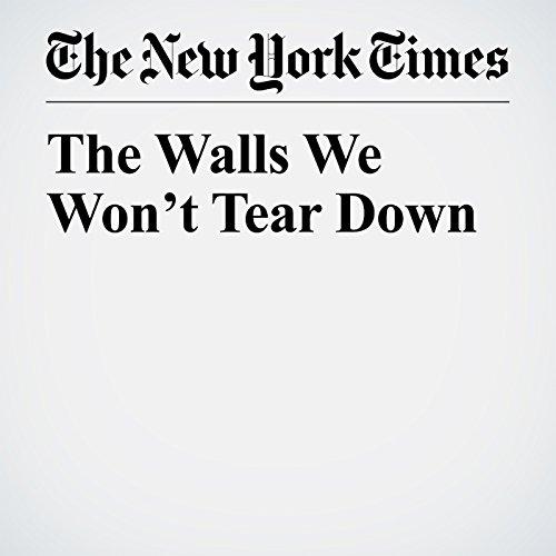 The Walls We Won't Tear Down copertina
