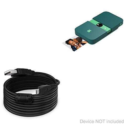 Cabo de câmera digital Kodak Printomatic de impressão instantânea, BoxWave [cabo DirectSync (4,5 metros] Cabo de carregamento e sincronização extra longo para câmera digital Kodak Printomatic de impressão instantânea - Preto