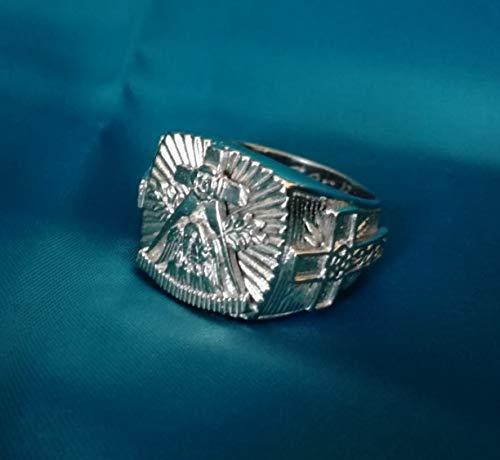 Rosenkreuz ring Square and Compass Masonic ring | Rose and Cross ring | Rose Croix | Vintage Masonic Ring | Masonic Lodge Ring | Sterling Silver 925, Yellow, White, Rose Gold | Handmade | All Sizes