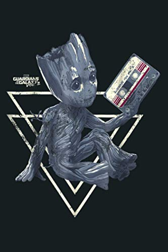 Marvel Groot Guardians Of Galaxy 2 Tape Shape Graphic: Notebook Planner - 6x9 inch Daily Planner Journal, To Do List Notebook, Daily Organizer, 114 Pages