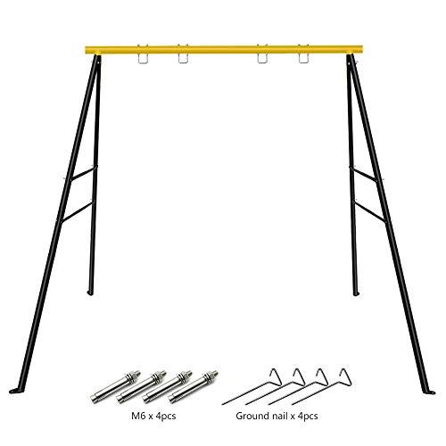 Kinderschaukel Gartenschaukel Extra großer Robuster Allwetter-A-Rahmen-Schaukelrahmen-Set aus Metall mit Erdspießen für die meisten Schaukeln, Spaß für Kinder im Freien