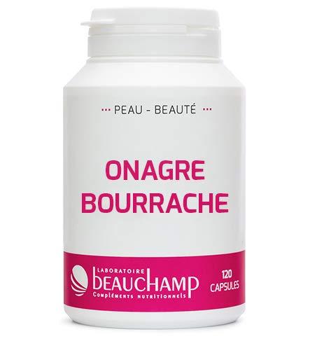 Laboratoire Beauchamp - Complément Alimentaire Huile d'Onagre et Huile de Bourrache vierge - Beauté de la peau, menstrues et ménopause - 120 capsules - Fabrication française