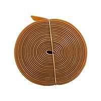 ゴムバンド 4色カラー 360cm 水産合羽 漁師カッパ エプロン用 ベルト ホルダーに (アメ色)