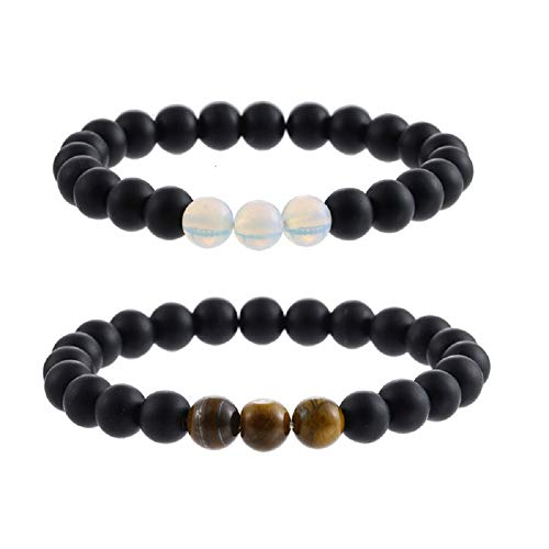 PLUS PO Gemstone Bracelet Stretch Bracelet Yoga Beads Bracelet White Pine Stone Bracelet Healing Bracelet Precious Bracelet Scrub Bracelet Stylish Bracelet