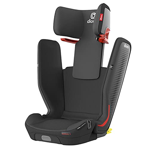 Diono Monterey 5iST FixSafe Rigid Latch High Back Booster Car Seat with Expandable Height and Width, Compact Fold to Full Size Booster, Foldable, Portable Booster for Go-Anywhere Travel, Gray Slate