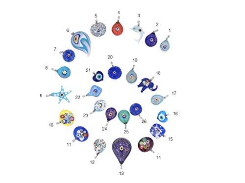 Remi Bijou Halskette mit Anhänger aus Glass 'A-la Murano Glass' - Blaues Auge Nazar Boncuk (18)