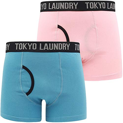Oldfield (2 Pack) Boxer Shorts Set in Coral Cloud/Niagara Falls Blue – Tokyo Laundry - L