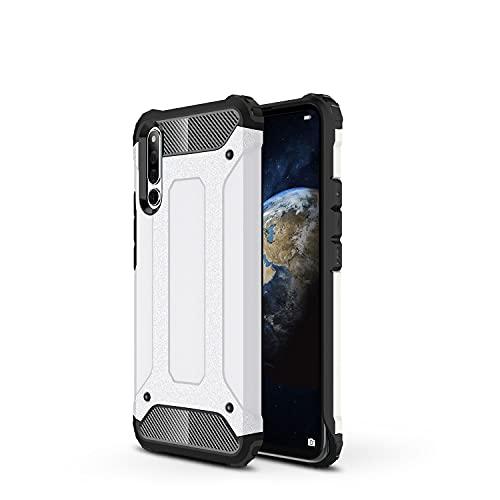 ZHIWEI Das tragbare Handy Tasche Schutzhülle für Huawei Honor Magic 2 Hülle, TPU + PC Stoßfänger Dual Layer Stoßdämpfe Hybridschutz Robustes Fall (Color : White)