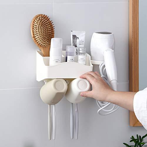 WZNB Aan de muur gemonteerde tandenborstelhouder wasset aan de muur gemonteerde zuignap mondwater tandpasta tandenborstel gratis punch rack