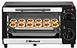 Belaco BTO-109N Mini 9L Toaster Oven Tabletop Cooking Baking Portable Oven 750w 60 min Timer 100-230° Stainless Steel Heating Tube incl. Baking Tray & Wire Rack