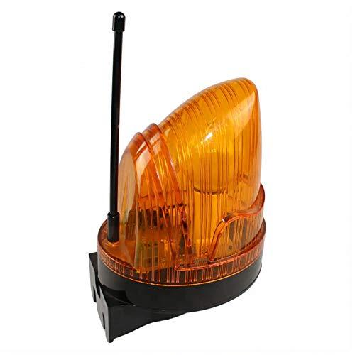 KASER Lámpara Destellante LED 220V Universal con Antena 433,92 MHz Luz Intermitente para Puerta Automáticas Garaje Cancelas Correderas Multitensión AC / DC 12V – 265V Impermeable con Soporte de Pared