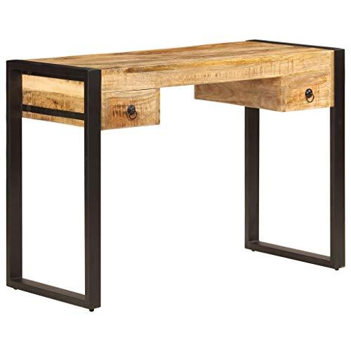 vidaXL Mangoholz Massiv Schreibtisch Schubladen Bürotisch Computertisch Tisch