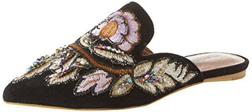 Jeffrey Campbell 8-17F, Sandales Bout fermé Femme, Multicolore Suede Black Flower Multi 001, 36 EU