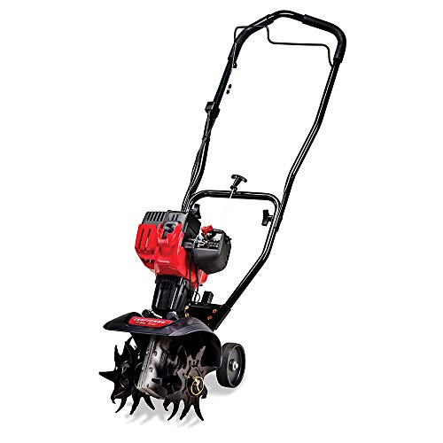 Craftsman C210 9-Inch 25cc 2-Cycle Gas Powered Cultivator/Tiller, 9 inches, Black/red
