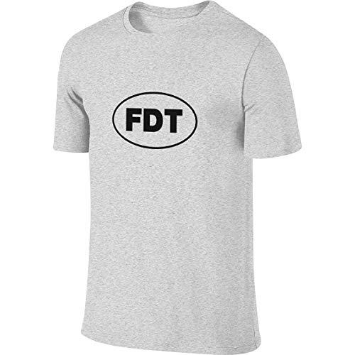 Mens Funny Humor T-Shirts FDT Donald Trump,Plug-Size(S-6XL) Gray