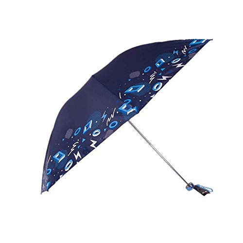 Paraguas Plegables Doble ampliado a Prueba de Lluvia y protección Solar a Prueba de Lluvias Protección Solar sombrilla (Color : Navy Blue)