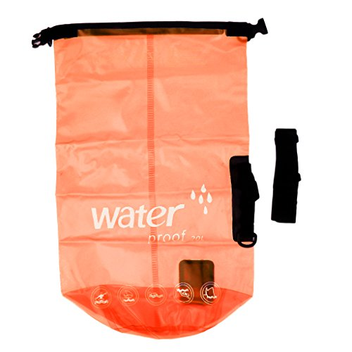 Amagogo Travel Kayak Waterproof Dry Bag Backpack Shoulder Bag Pack Wet Dry Sack 20L - Orange