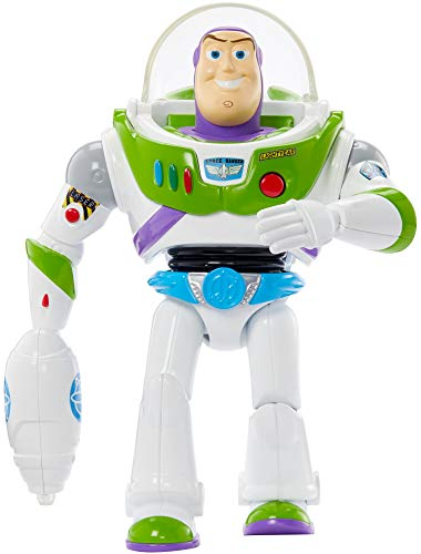 Disney Pixar Toy Story Take Aim Buzz Lightyear Talking Feature Figure, Movie Inspired Action Character Doll 7-in with Blaster, Kids Gift Ages 3 Years & Older