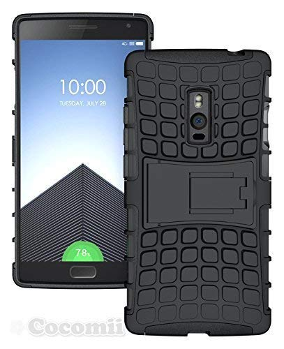 Cocomii Grenade Armor OnePlus 2 Case, Slim Thin Matte Vertical & Horizontal Kickstand Reinforced Drop Protection Fashion Phone Case Bumper Cover for OnePlus 2 (Black)