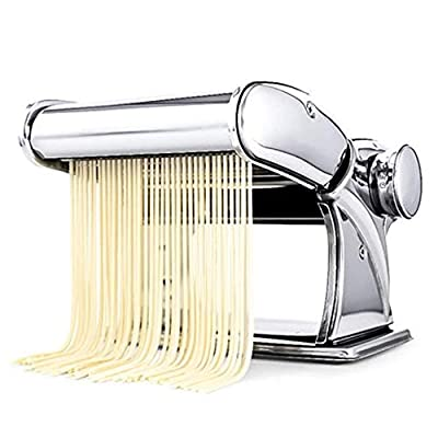 CHENJIU Pasta Maker, Manual Noodle Maker Homemade Pasta Maker All in One 7 Thickness Settings Perfect for Spaghetti, Fettuccini, Lasagna or Dumpling Skins