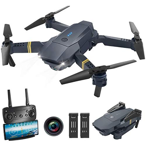 Andals WiFi FPV Drone with 1080P HD Camera, Wide-Angle Live Video RC Quadcopter with Altitude Hold, Gravity Sensor Function, RTF One Key Take Off/Landing, Compatible w/VR Headset